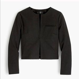 J Crew 365 Black Collarless Cropped Jacket